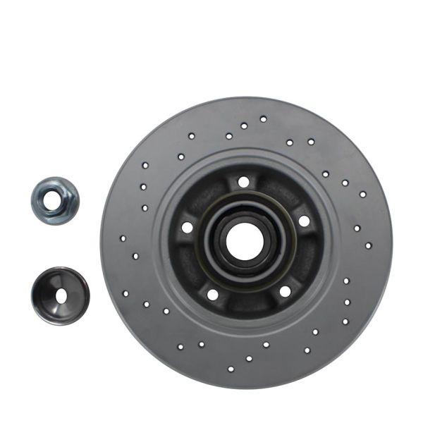 Geperforeerde remschijven achterzijde inclusief lagers en ABS-ring Sport kwaliteit RENAULT KANGOO / GRAND KANGOO 1.6 16V FLEX