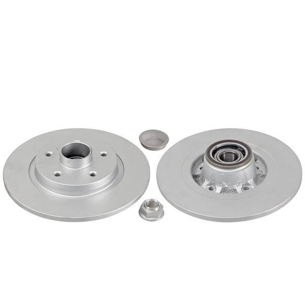 Remschijven achterzijde inclusief lagers en ABS-ring originele kwaliteit RENAULT KANGOO / GRAND KANGOO 1.6 16V FLEX