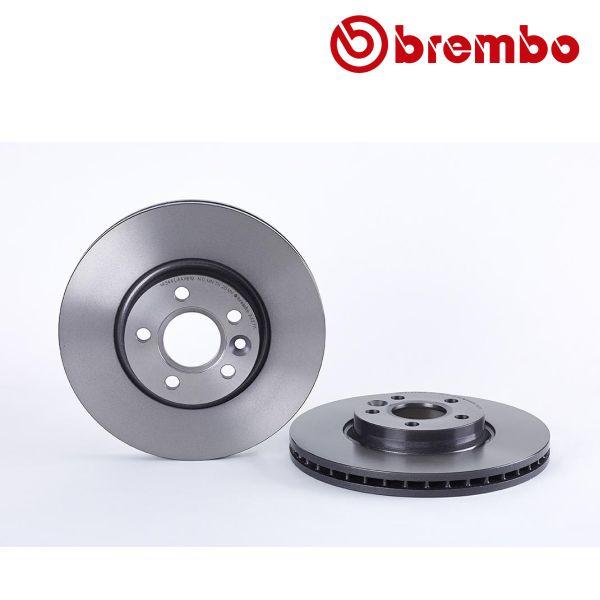 Remschijven voorzijde Brembo premium VOLVO V70 III 2.0 D