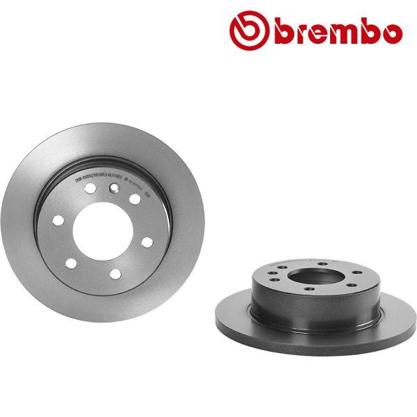 Remschijven achterzijde Brembo premium VW VOLKSWAGEN CRAFTER 30-50 Bestelwagen (2E_) 2.5 TDI