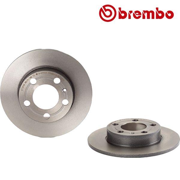 Remschijven achterzijde Brembo premium VW VOLKSWAGEN GOLF IV (1J1) 1.4 16V