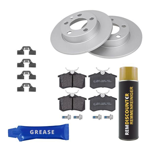 Voordeelpakket remschijven & remblokken achterzijde VW VOLKSWAGEN GOLF IV (1J1) 1.6 16V