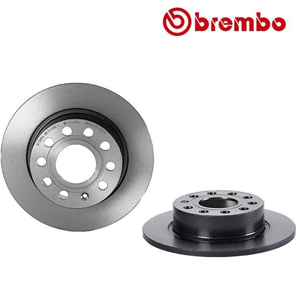 Remschijven achterzijde Brembo premium VW VOLKSWAGEN GOLF V (1K1) 1.6 FSI