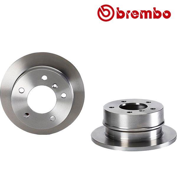 Remschijven achterzijde Brembo premium VW VOLKSWAGEN LT 28-46 II Bestelwagen (2DA, 2DD, 2DH) 2.8 TDI