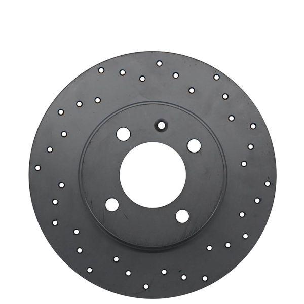 Geperforeerde remschijven voorzijde Sport kwaliteit VW VOLKSWAGEN POLO (6N2) 1.4