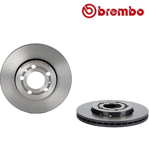 Remschijven voorzijde Brembo premium VW VOLKSWAGEN POLO (9N_) 1.4 16V