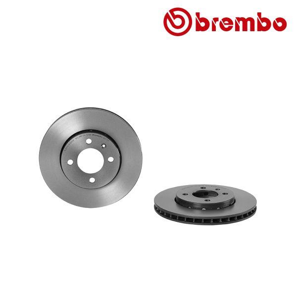 Remschijven voorzijde Brembo premium VW VOLKSWAGEN UP (121, 122, BL1, BL2) 1.0