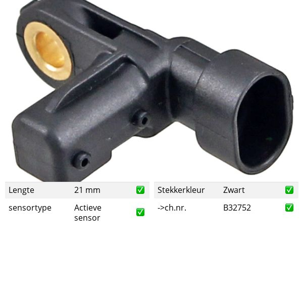 ABS-sensor achterzijde, links of rechts JAGUAR XJ R 4.2