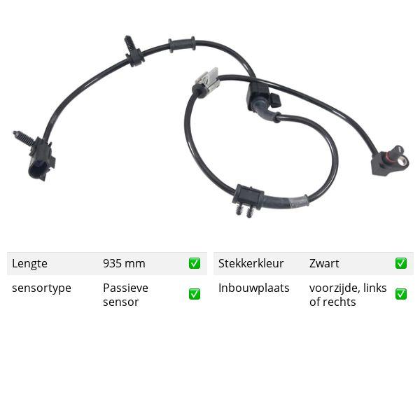 ABS-sensor voorzijde, links of rechts SAAB 9-7X 4.2 AWD